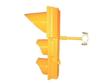 300mm clear cover &yellow housing traffic signal light