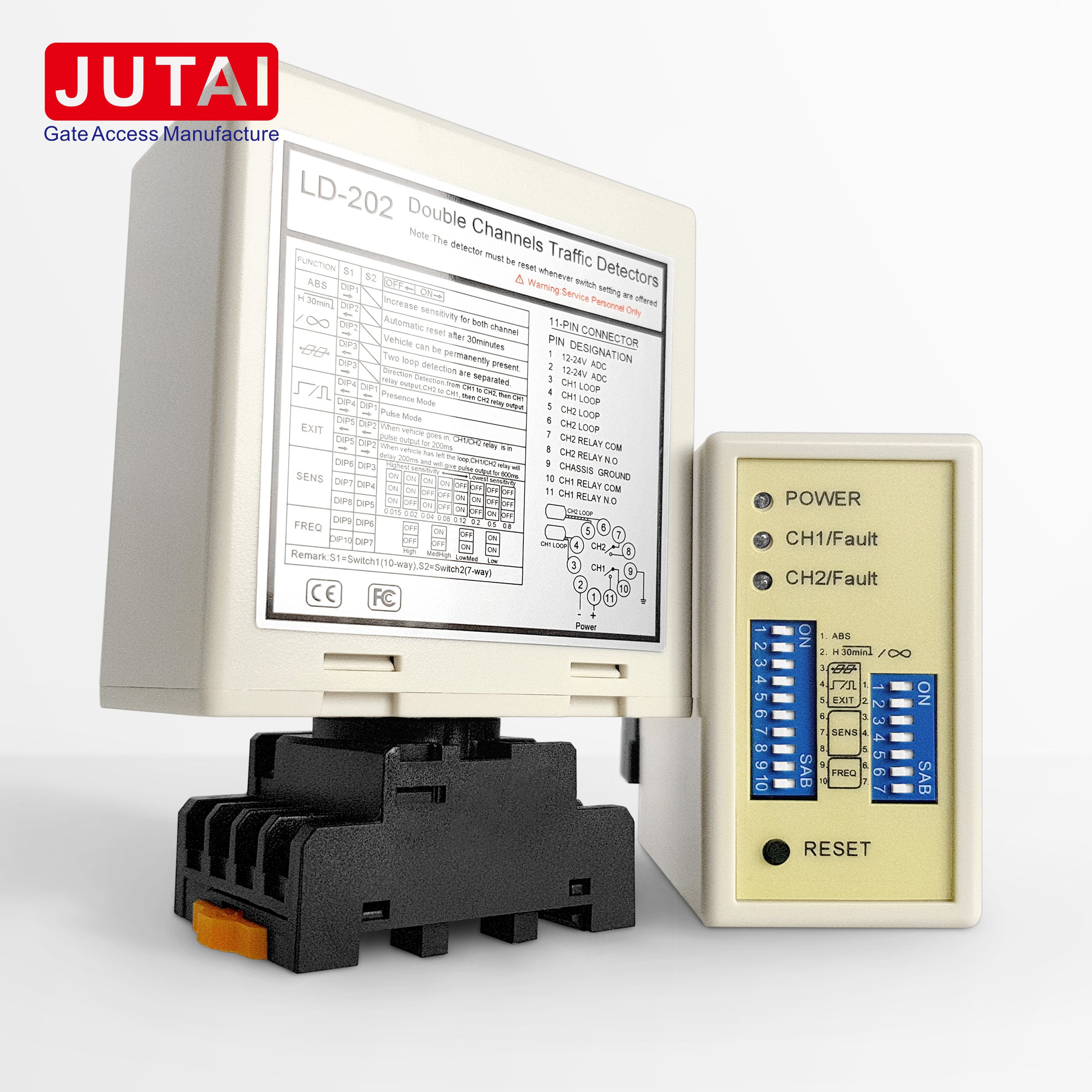 Loop Detector of JUTAI doub channel Sensor With AB Logic Presence Pulse Relay