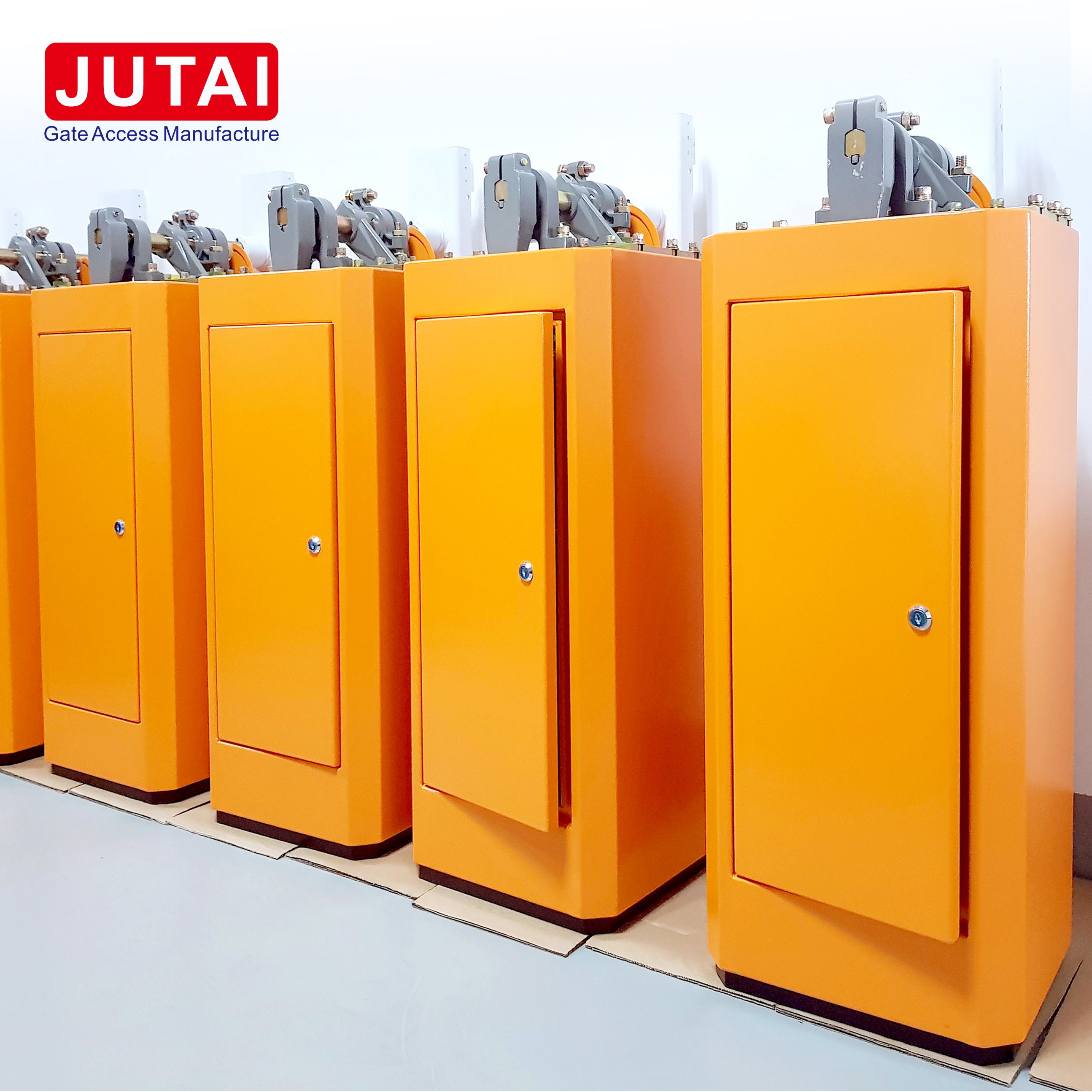 JUTAI Automatic Barrier Gate Operator Working With JUTAI Three Push Buttons to  Open/Stop/ Close