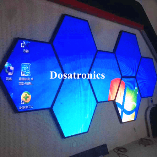 Indoor LED Display Hexagon Shape Customised Special Shape LED Screen
