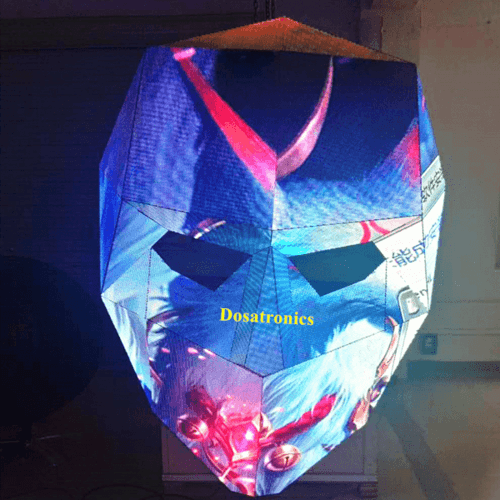 Indoor LED Display Customized Facial Makeup LED Mask High Definition Video