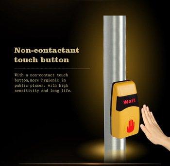 bouton tactile piéton sans contact