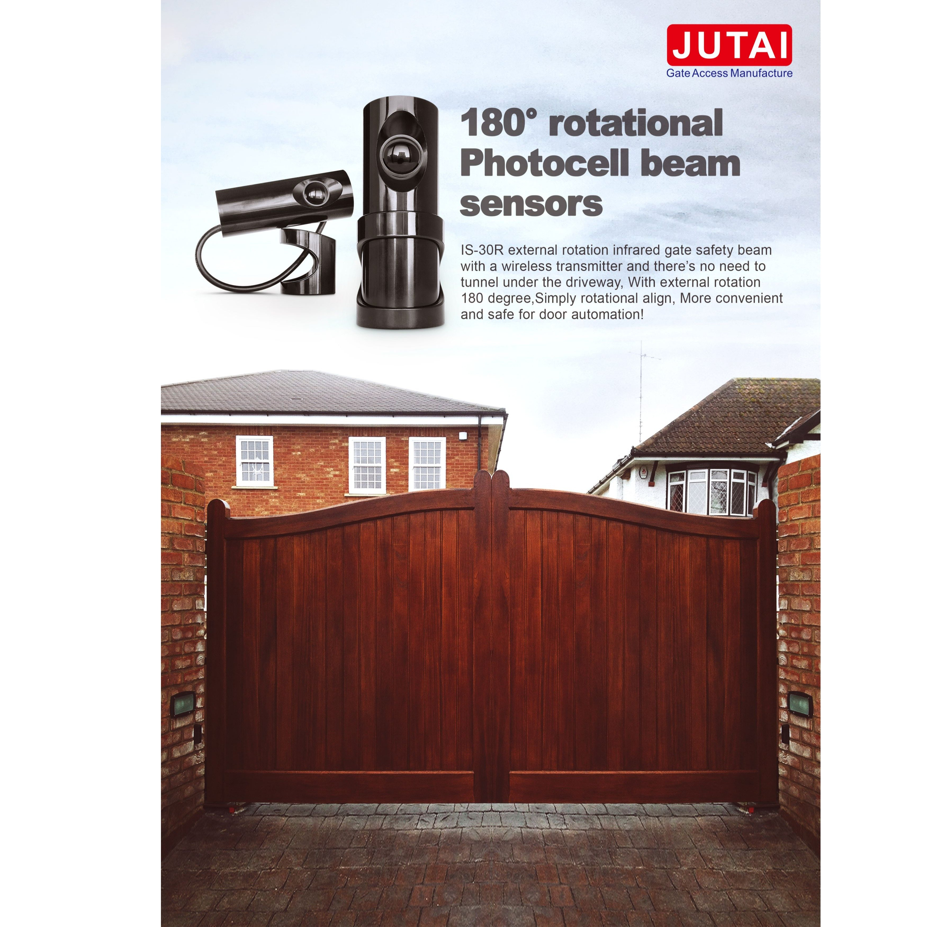 JUTAI IS-30R Automatic gate wireless battery infrared safety