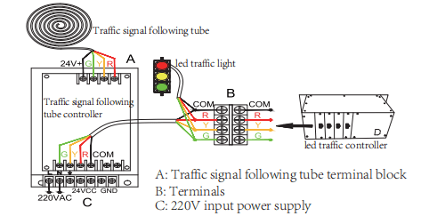 traffic pole light controller