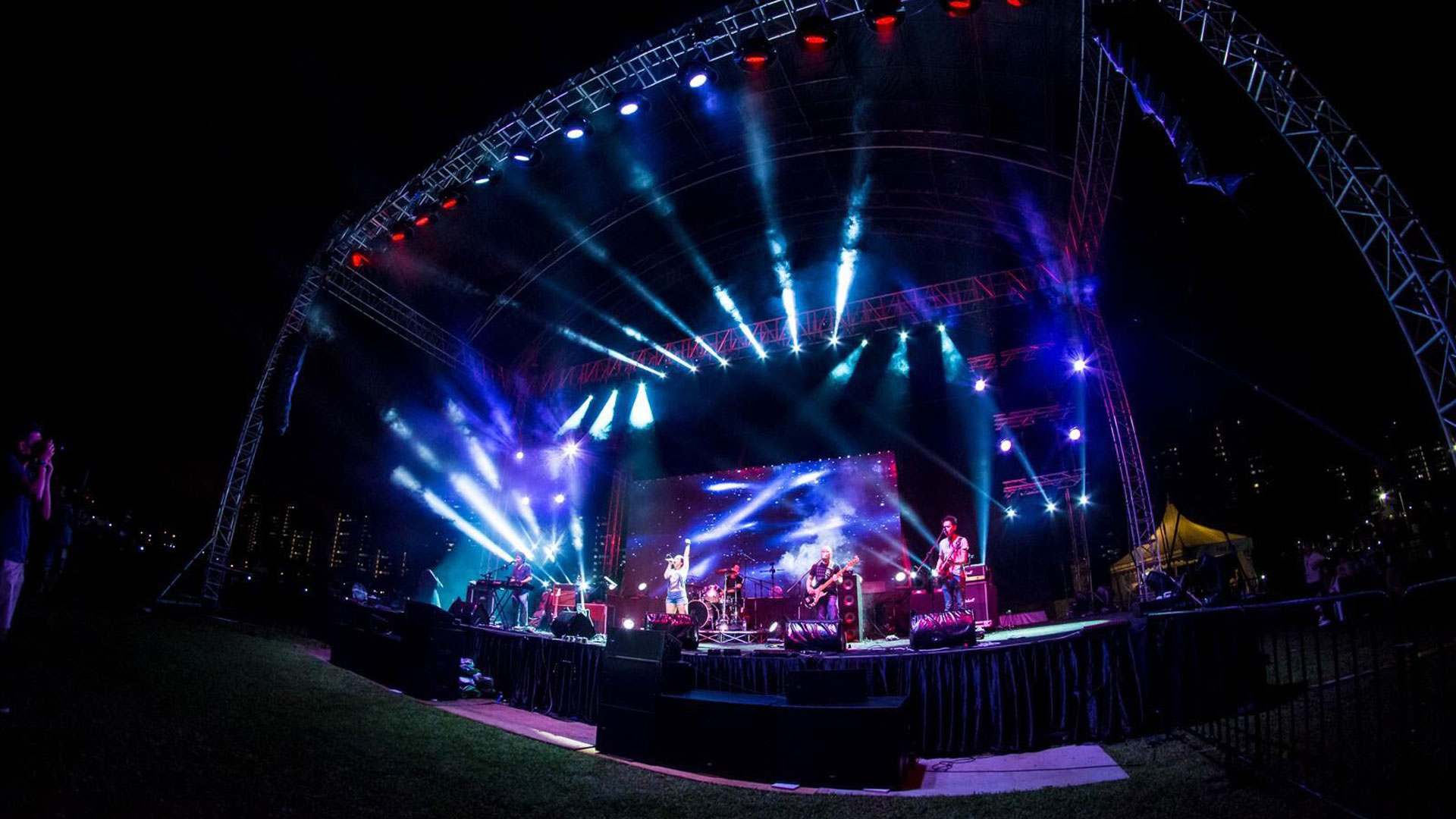 LianTronics Rental LED Display Lights up Stage, Singapore