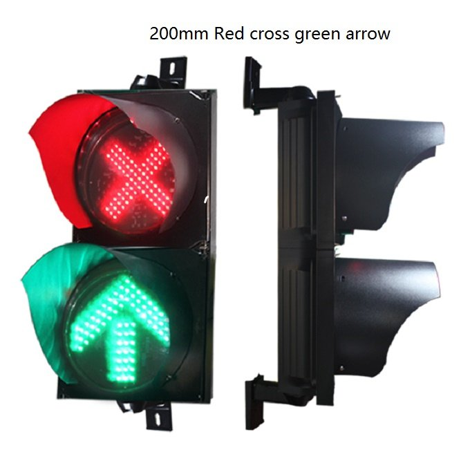 200mm red cross green arrow