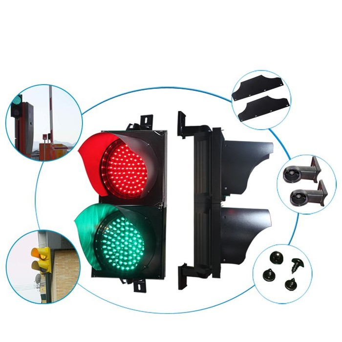 200mm 2 Aspect Traffic Light With China Supplier Traffic Signal