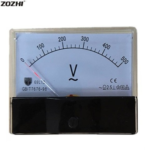 Generator Pointer Analog Voltage Meter DC 0-500V 69L13