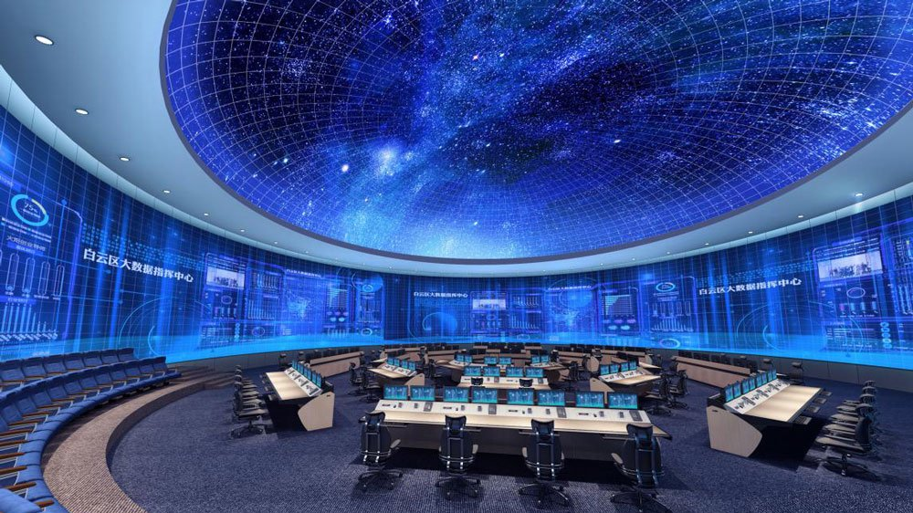 Amazing! LianTronics 400㎡ 360° panorama fine-pitch screen debut in the big data control center