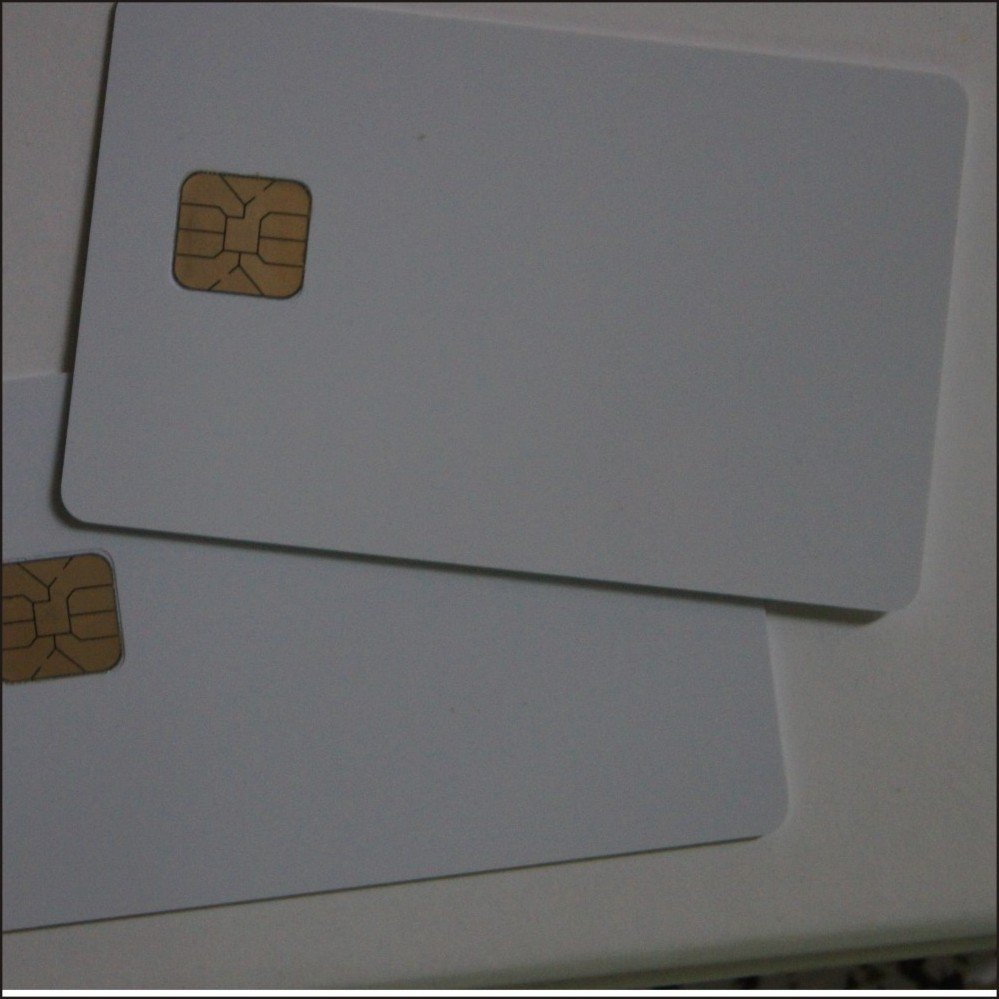 4428 Card contact chip pvc white card widely applications