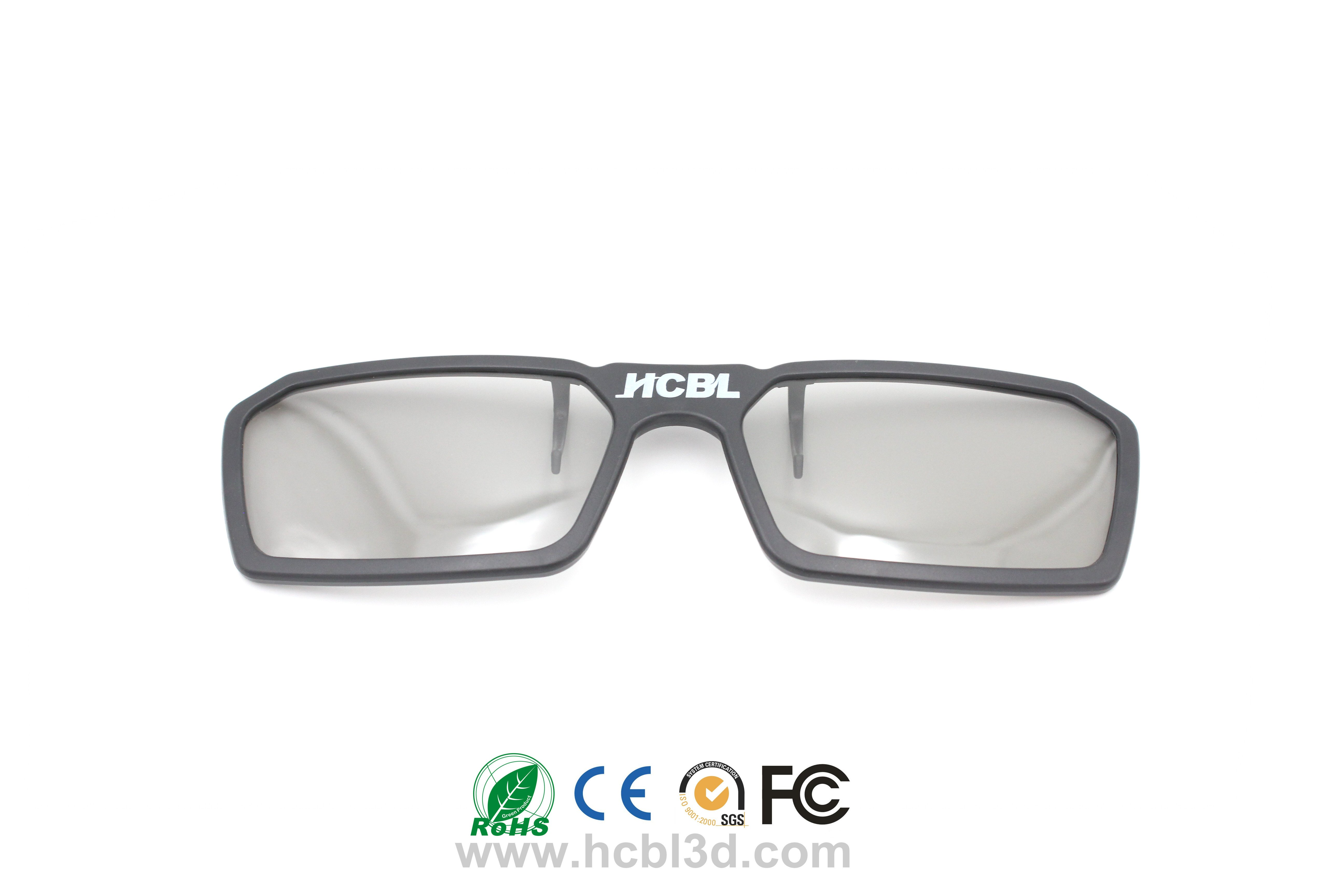 Myopic 3D glasses With Circular / Linear Polarized Lens/Disposable/Recyclable 3D glasses Passive