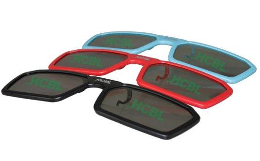 3D-Brille zum Aufstecken