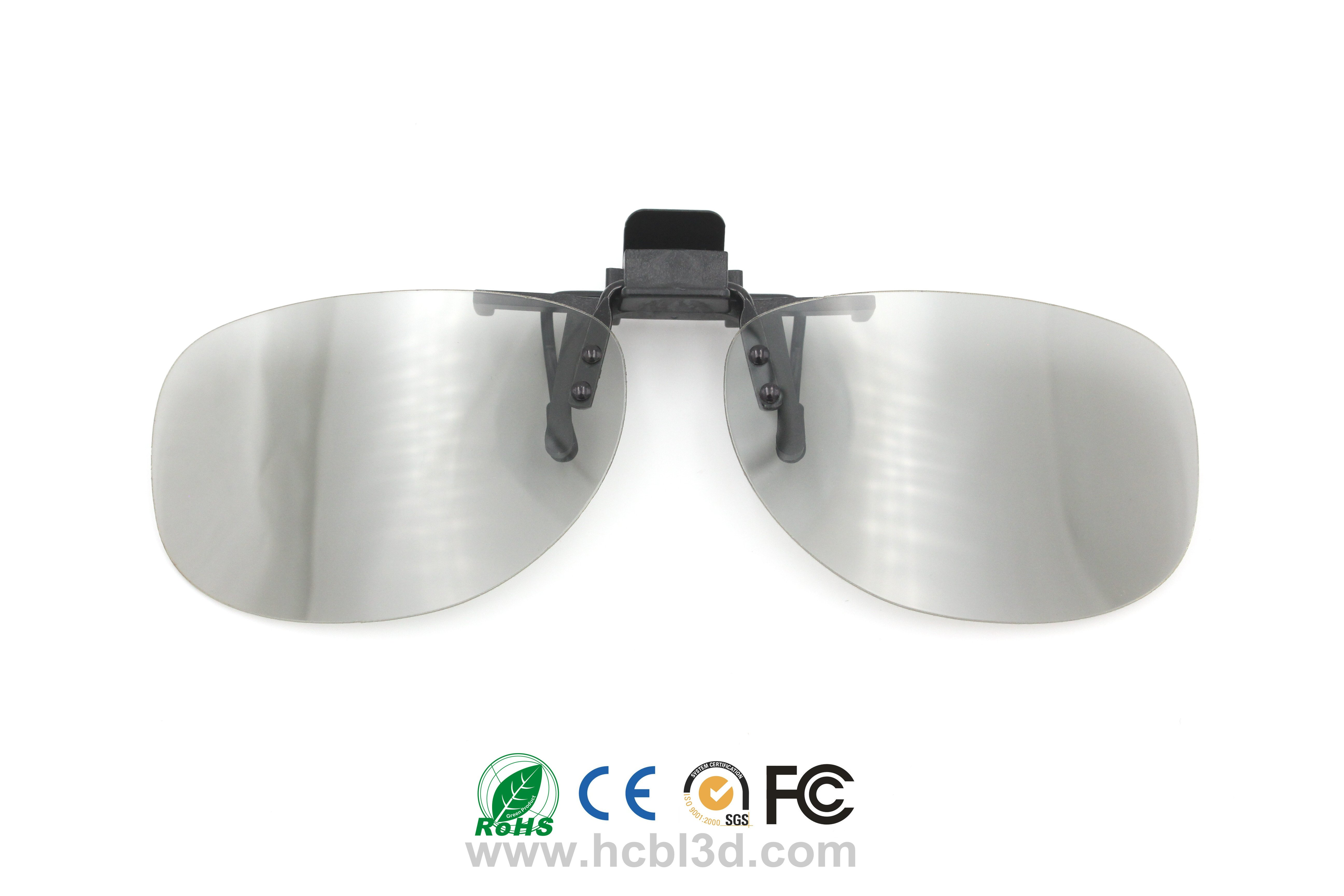 Clip-on Passive Polarized Reusable 3D Eyewear Goggles Style