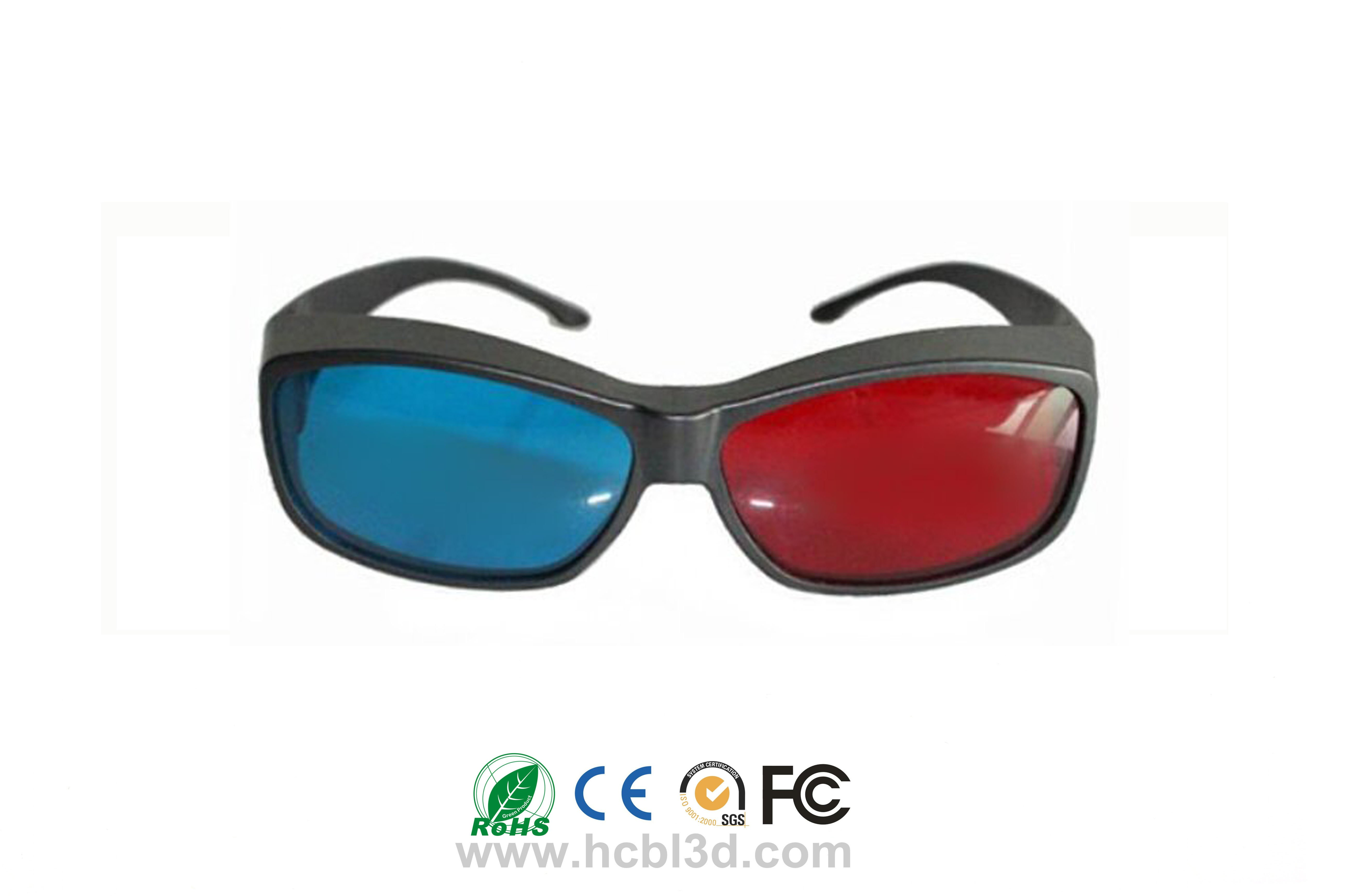 Reuseable 3D Anaglyph  Red Blue Glasses For Computer Game / Stereo Movie