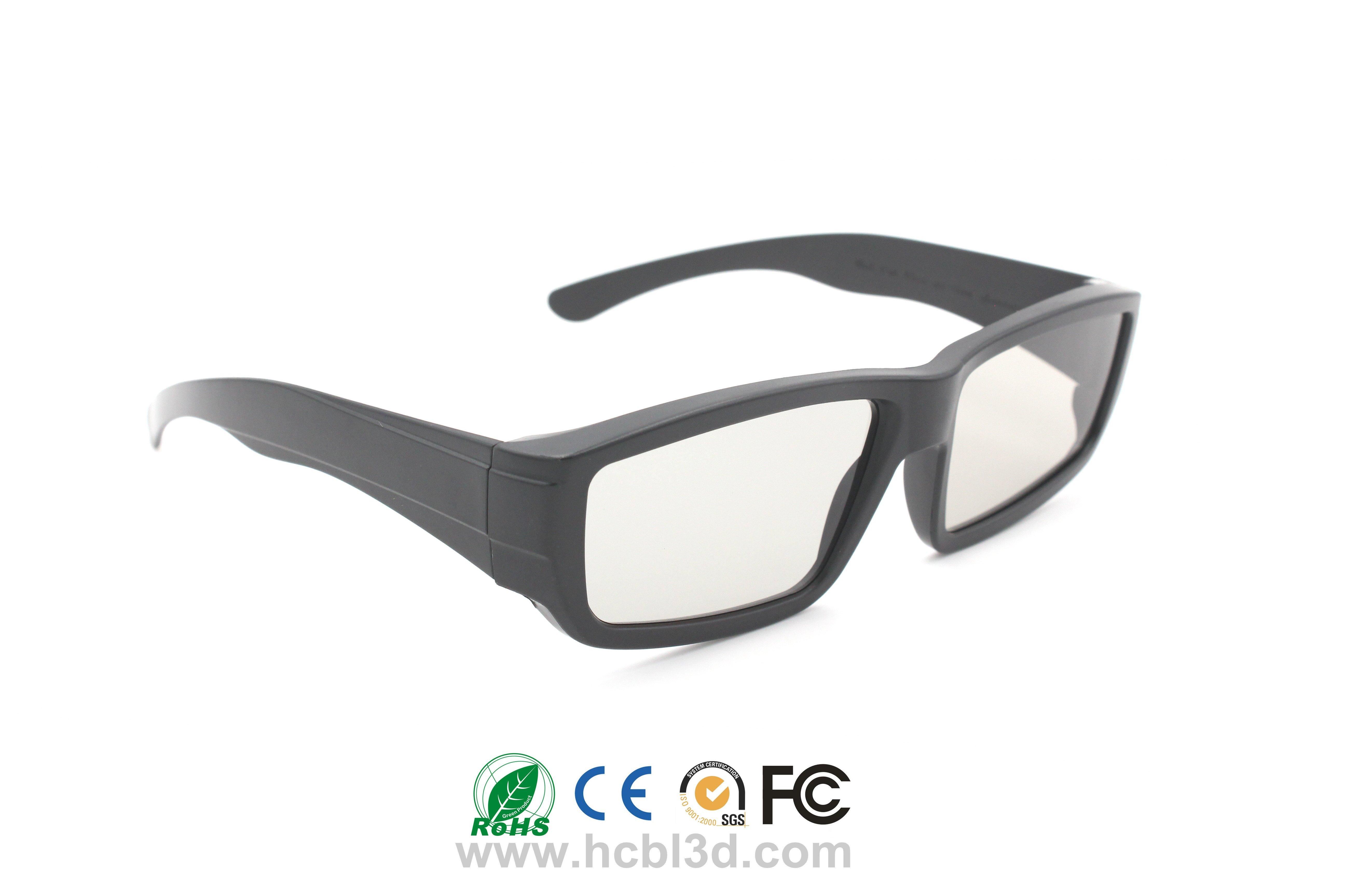 Passive 3D Glasses Plastic Frame for big screen format