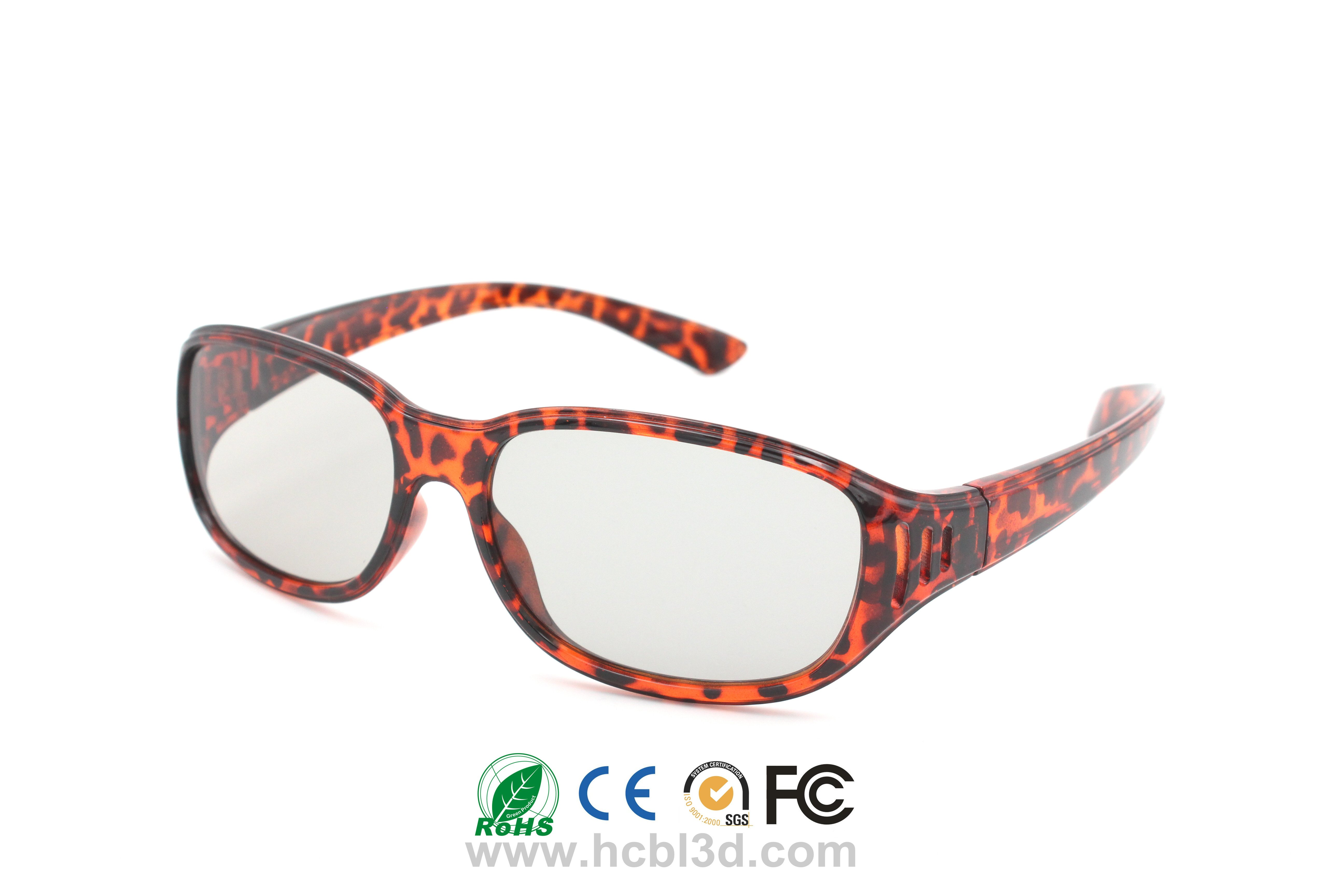 Multiple Use 3D Glasses for 3d cinema Red Panther Design Reusable