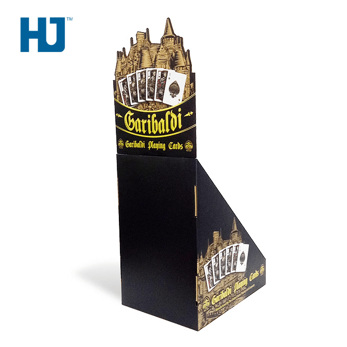 Customized Poker Cardboard Counter Top Display Stand For The Entertainment Store