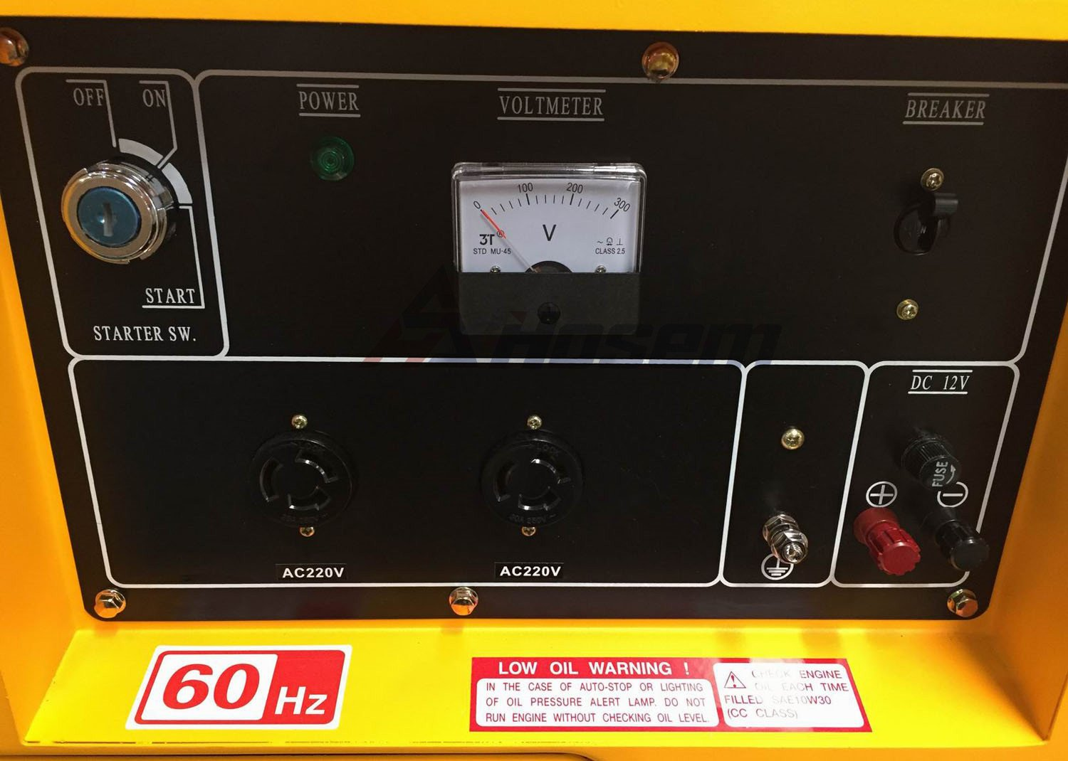 Control Panel Of Air Cooled Diesel Generator1