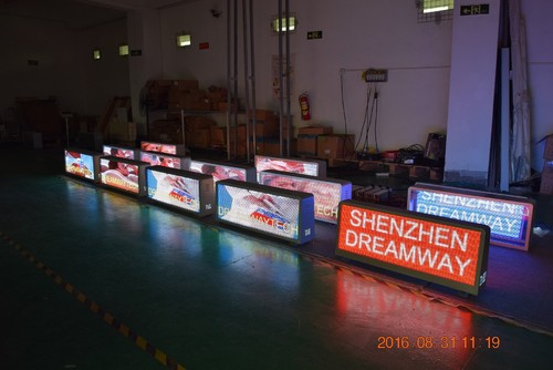 Digital Taxi Tops LED Display of PH5 Type Nationstar LED 4G Control