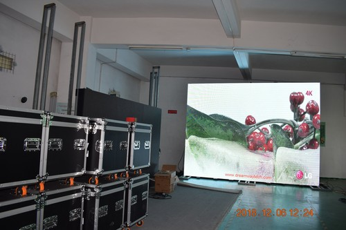 Event Screen Hire of 3.91mm pp Curved LED Display Flight Box Packed