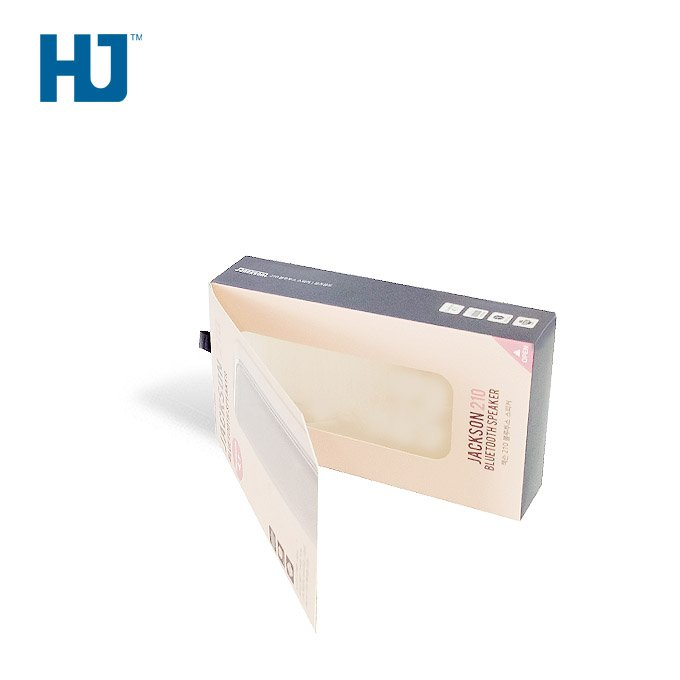 Folding visual window packaging box