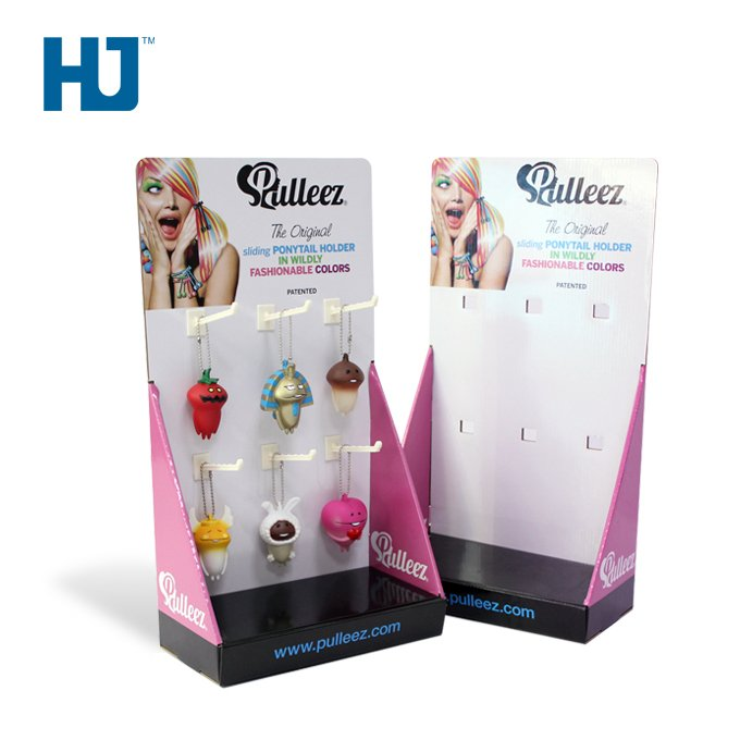 Counter Display Box Hair Accessories Display Stand With Hooks For Retail
