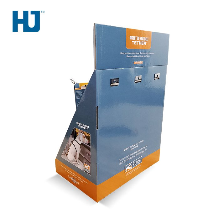 Counter Display Box Pet Tether Stand For Supermarket POP