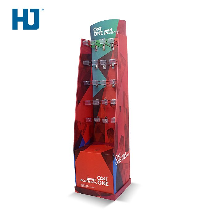 Retail Hook Displays Metal Hanging Display With Price Tag And LED Lights