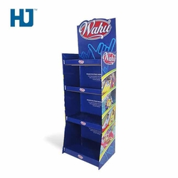 Cardboard Display Stand Customized Makeup Shelf Pop Up Floor Standing Cardboard Displays