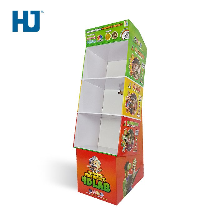 Toys And Dolls Display Stand Shelf Cardboard Displays For Retail And Promote Store