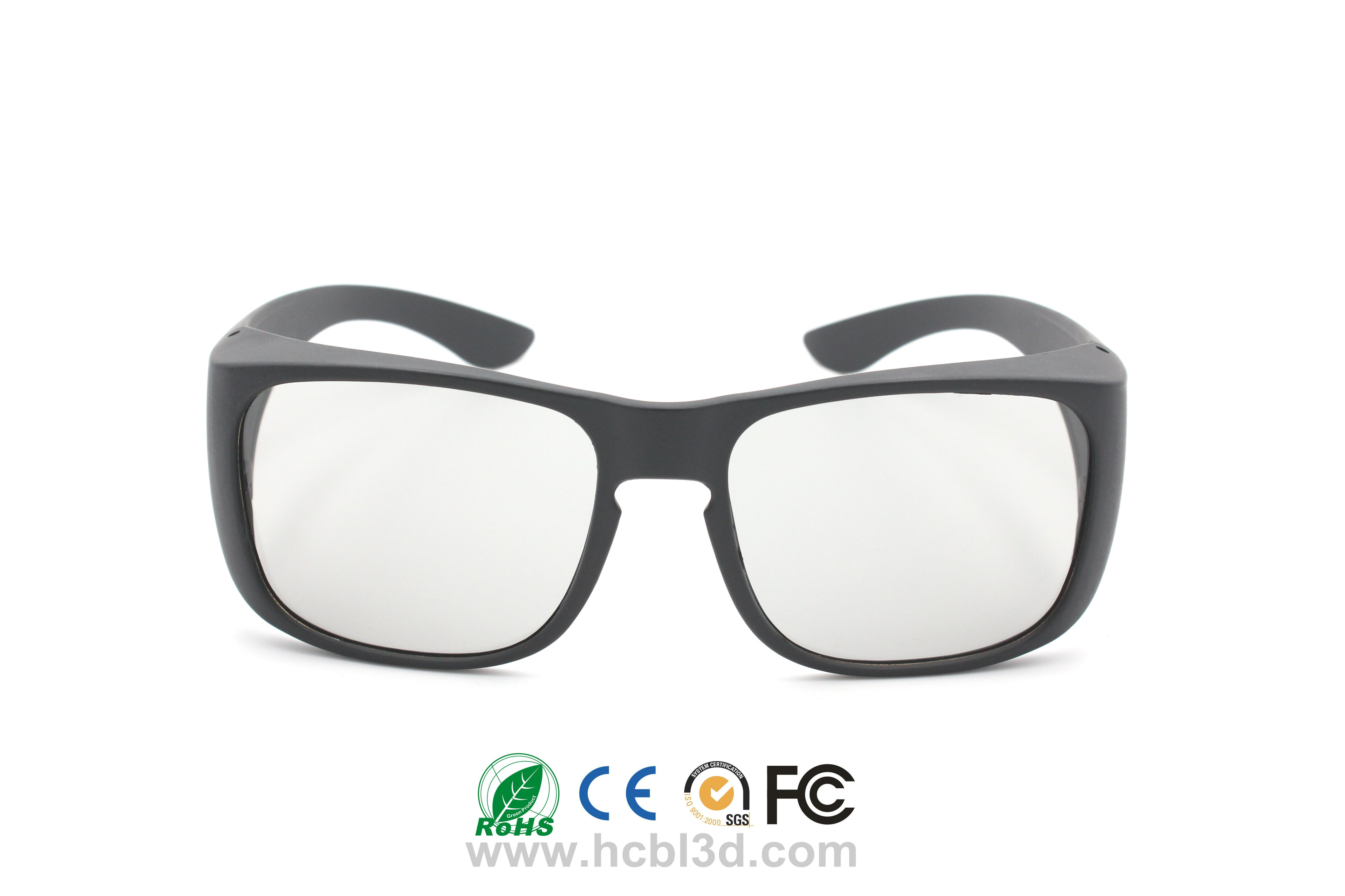 3D glasses with big frame, Caravan Type, Wide Field of Vision For Digital 3D Cinemas