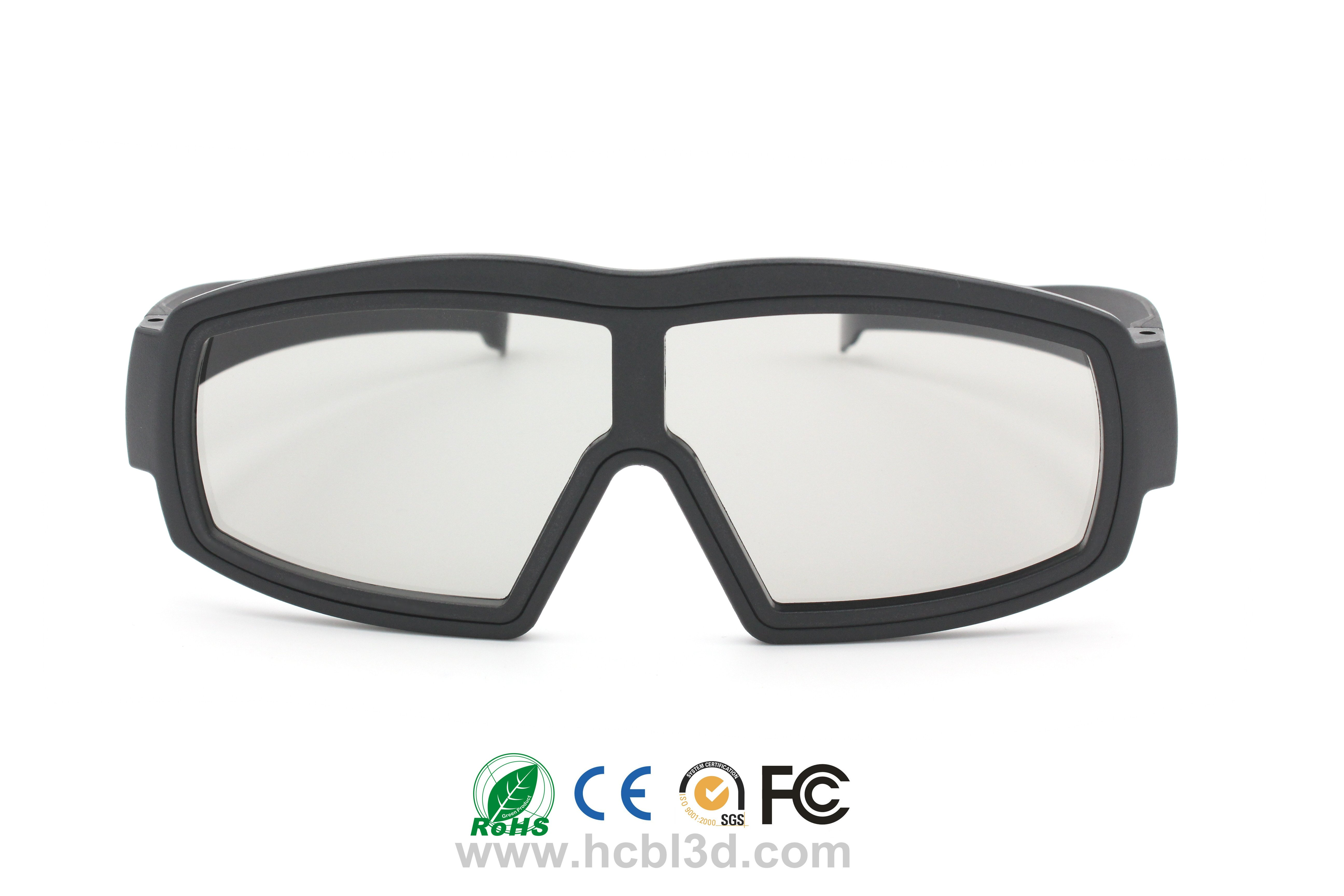 Linear 3D glasses with ABS frame for Comfortable large frame