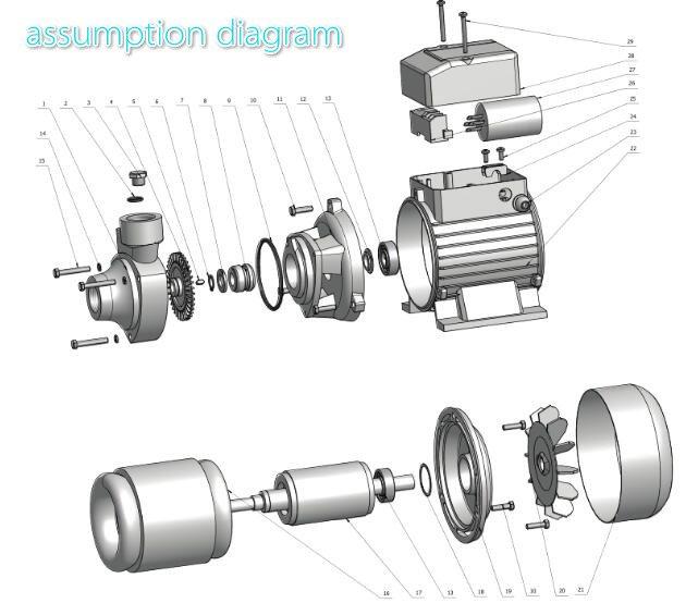 new design clean water pump