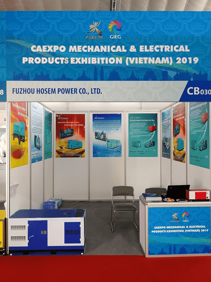 Electric Generator Supplier Hosem Join Exhibition in Vietnam