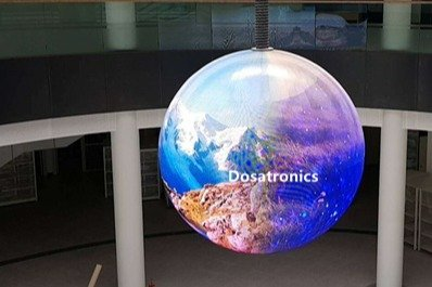 LED Ball Display installed in National Geographic Hall