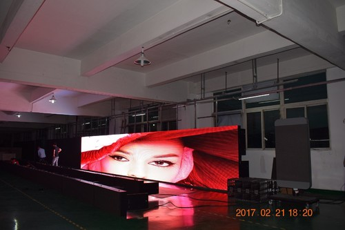 Gran pantalla LED de 10 mm de servicio frontal Nationstar LED Gold Wire