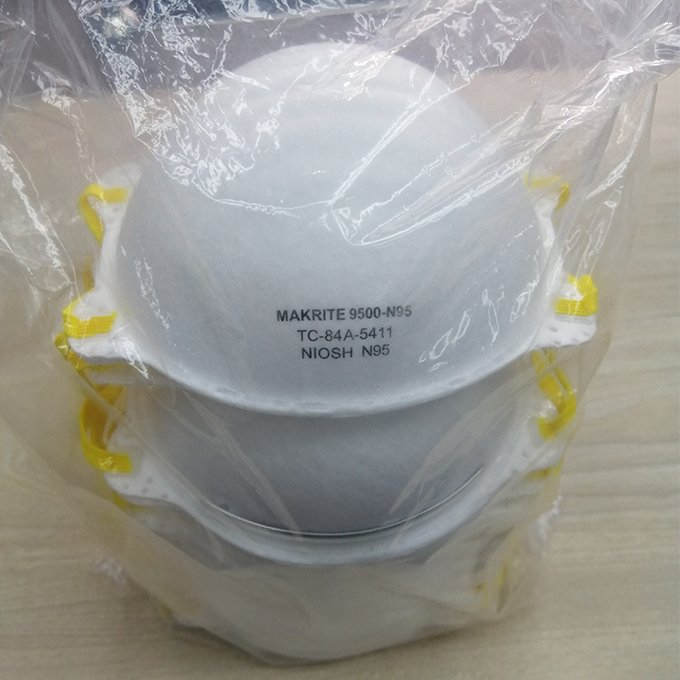 Makrite N95 9500 Niosh Mask Cup Shape Dust Face Mask CE