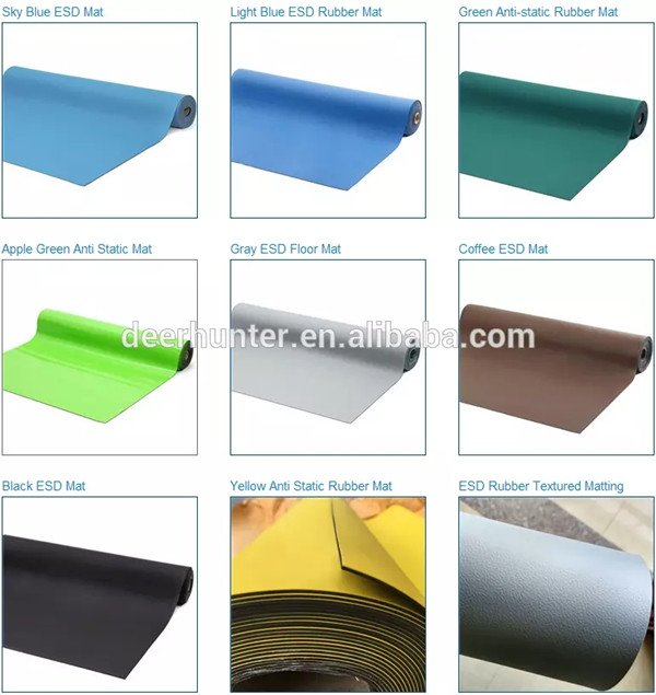 Many colors for Anti Static Rubber Mats