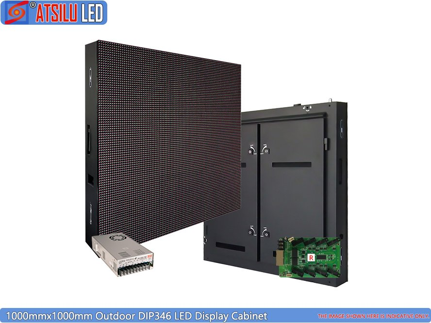 Outdoor DIP346 1000mmx1000mm LED Display Panel