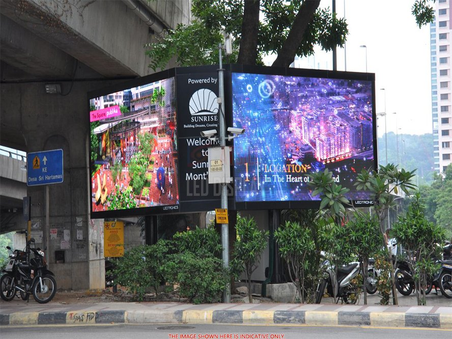 Outdoor Large Advertisement LED Video Billboard P16mm High Brightness Waterproof LED Display