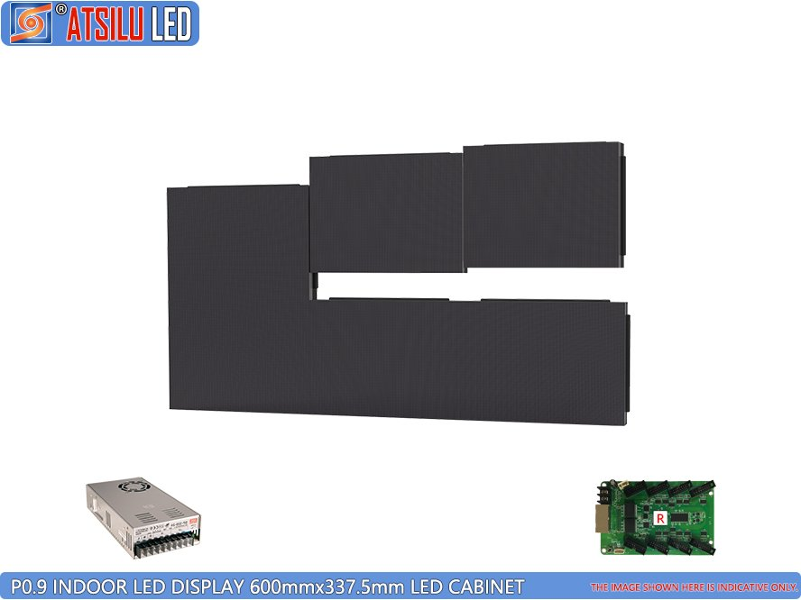 Pantalla LED interior P0.9mm Conexión del gabinete LED