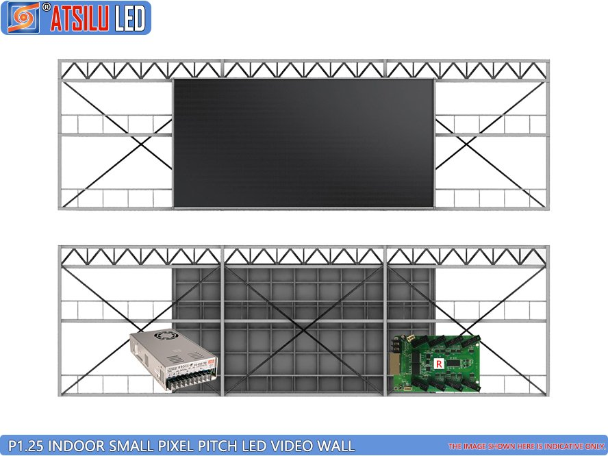 Pared de video LED para interiores P1.25mm