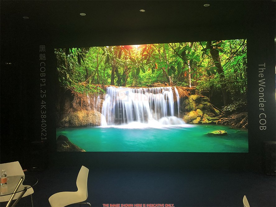 Pared de video LED para interiores de P1.25mm Pantalla de LED de pantalla de LED de píxeles de píxel más pequeño