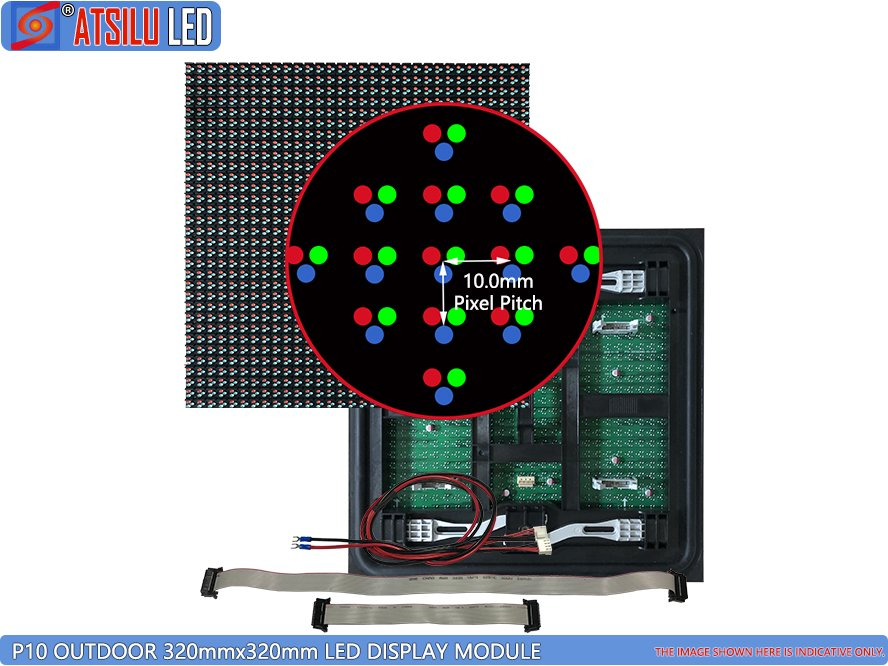 P10mm Outdoor Front Maintenance DIP346 LED Module