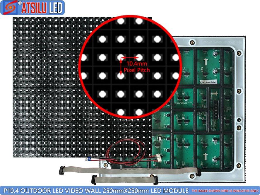 P10.4mm في الهواء الطلق الصمام الفيديو الجدار SMD3535 الصمام وحدة