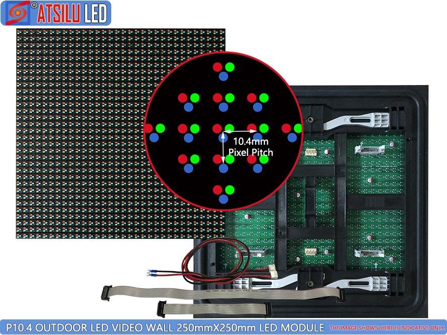 P10.4mm LED-videomuur voor buiten DIP346 LED-module