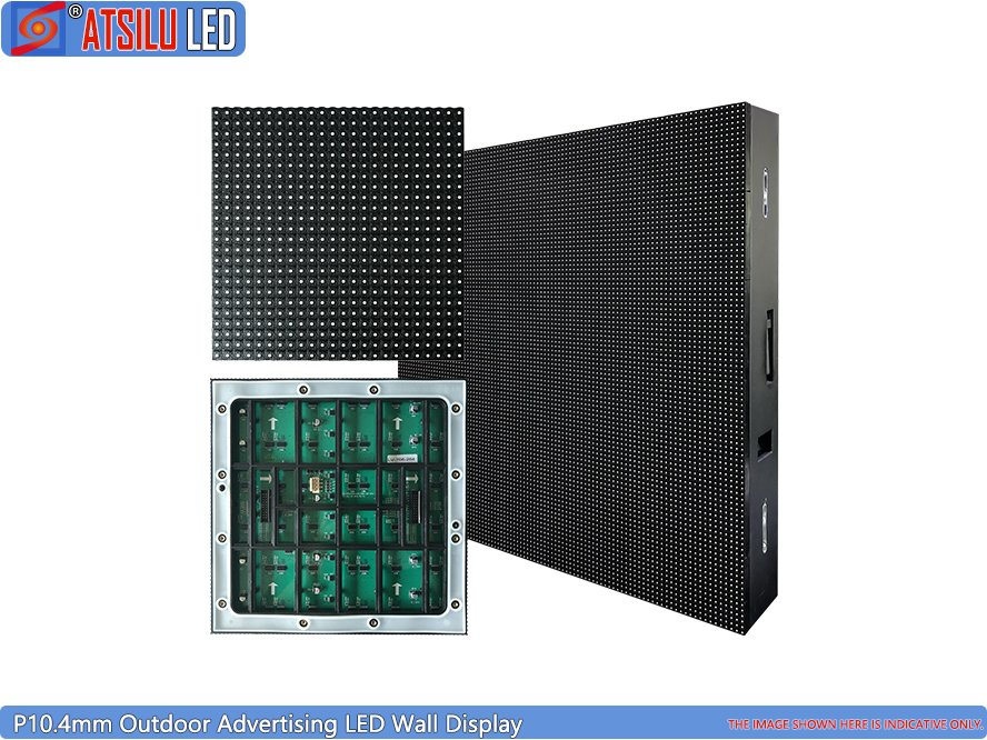 P10.4mm Outdoor Advertising LED Wall Display