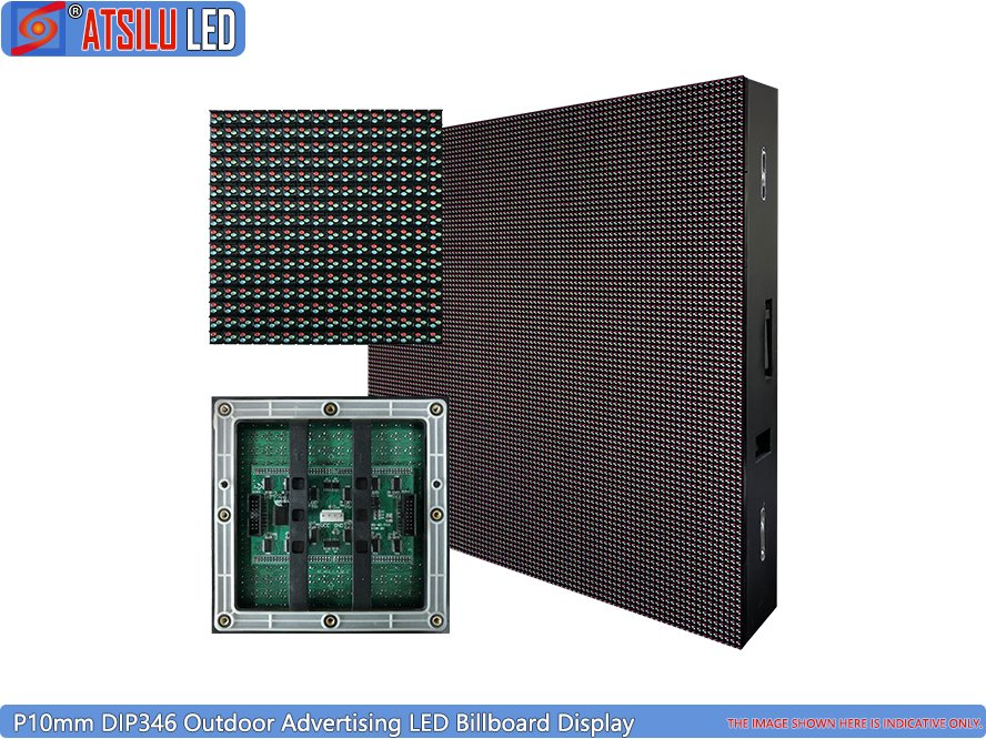 P10mm DIP346 Außenwerbung LED Billboard Display