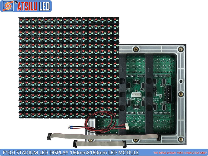 P10mm DIP346 Stadium Perimeter LED Display 160mm LED Module