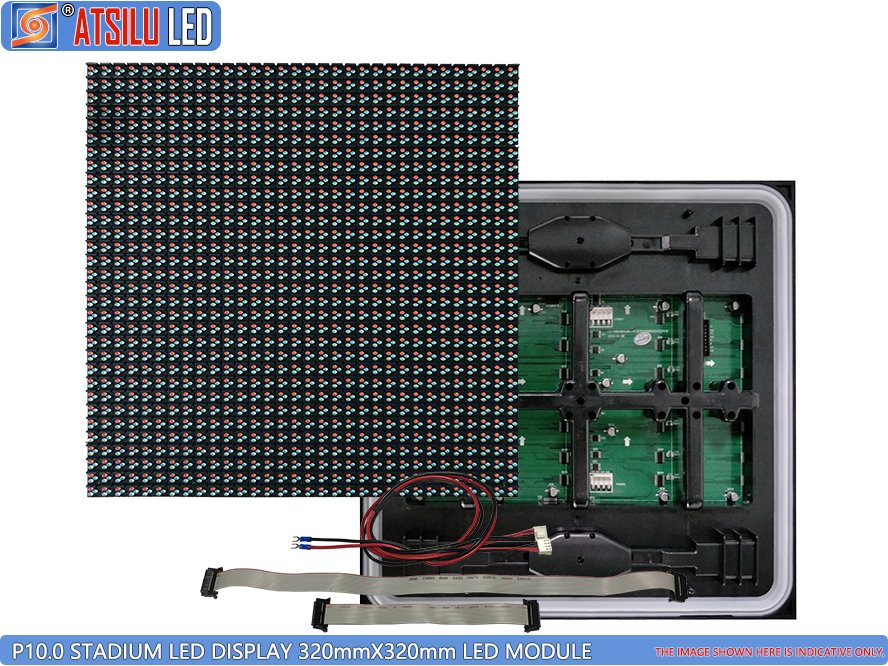 P10mm DIP346 Stadium Perimeter LED Display Front Maintenance Module